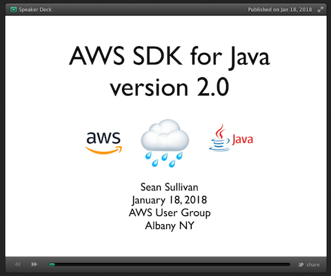 AWS SDK for Java, version 2 0
